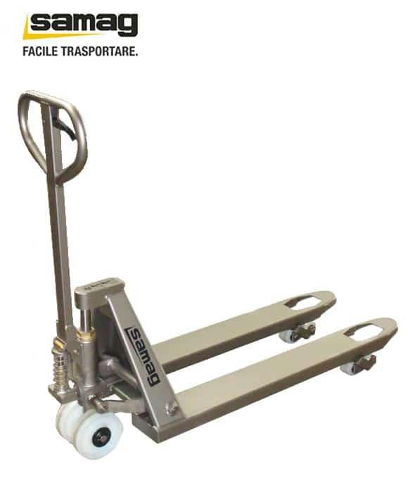 Transpallet manuale in acciaio inox